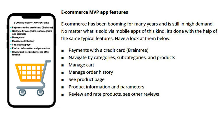 MVP App Development : E-commerce