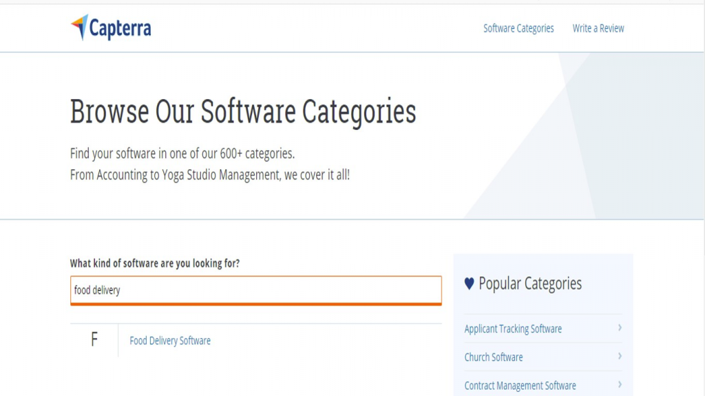 Step 3 of How to use Capterra for Market research in order to create a mobile App