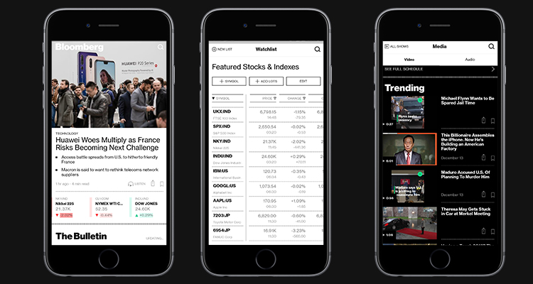 Bloomberg, a Global Provider of Real-time financial news refurbished their Mobile App using React Native App Development.
