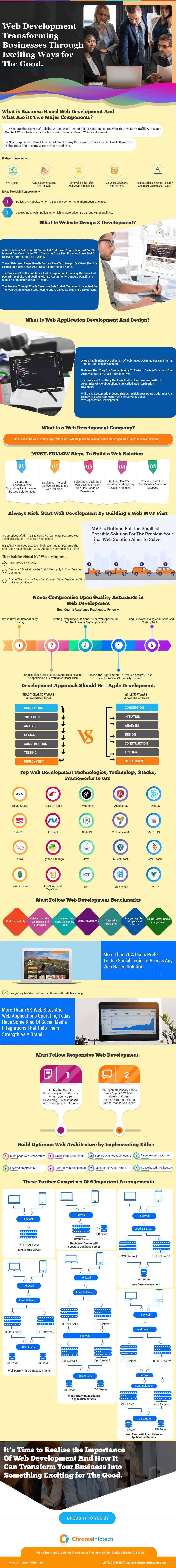 Web application development company infographic