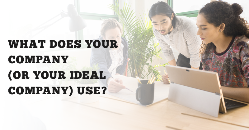 WHAT-DOES-YOUR-COMPANY-(OR-YOUR-IDEAL-COMPANY)-USE
