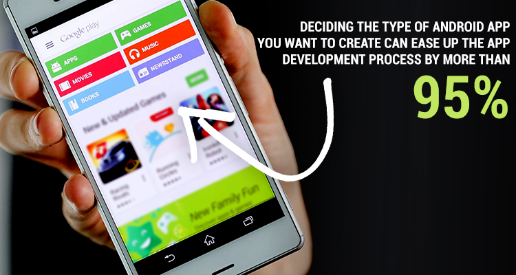 Hire Android app Developer or a team of android application developers | type of android app