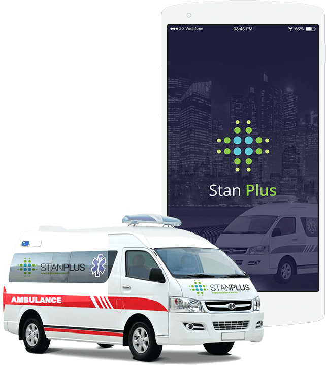 stanplus is an on-demand ambulance facility that operates via an android app