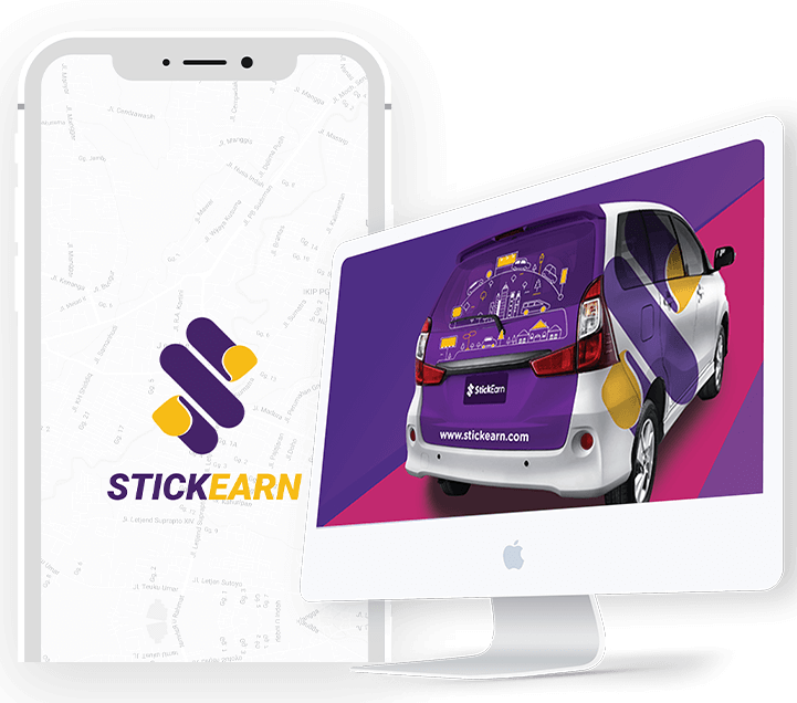 stickearn is an app for outdoor advertising built by an android app development company