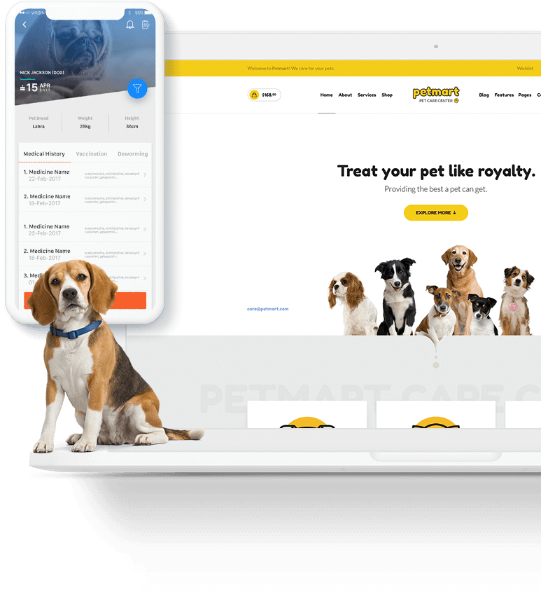 Vetco was built by an android app development company for the better treatment of pet animals