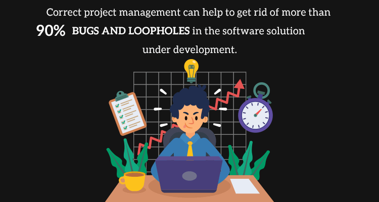 Correct project management done by a software development company can help to get rid of more than 90% app bugs and loopholes