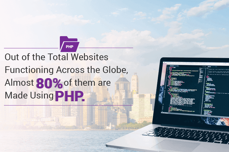 80% websites across the globe are made using the open source PHP technology