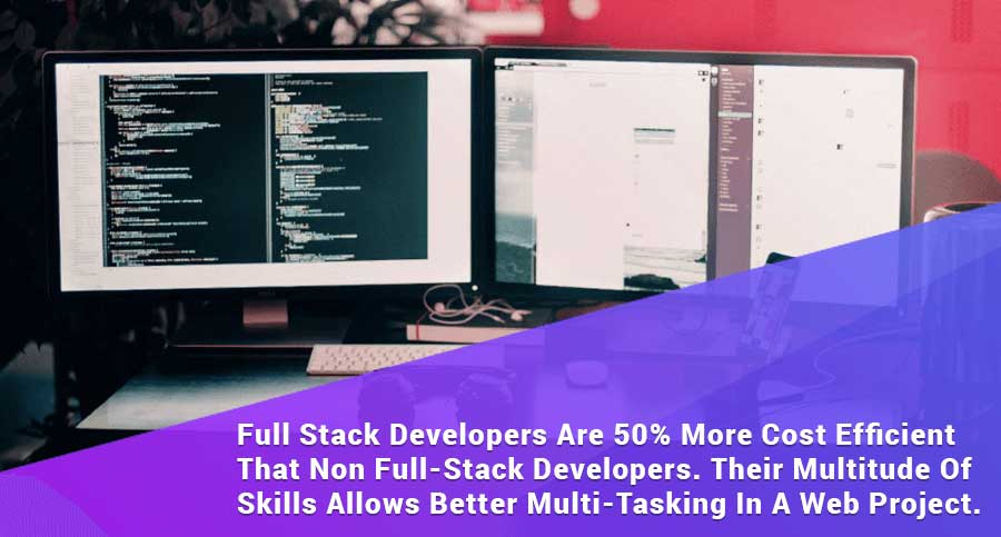 its better to hire web developer team that has full stack developers because they are 50% more cost efficient