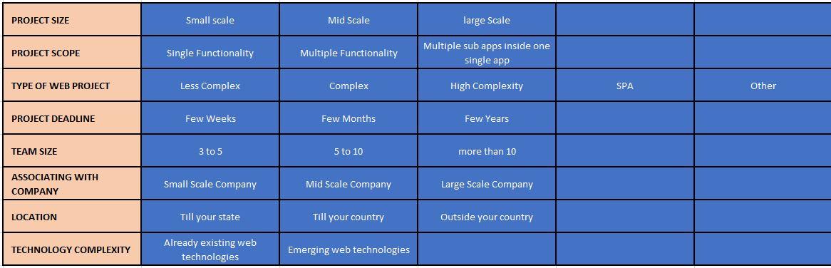 hire web developer | cost parameters