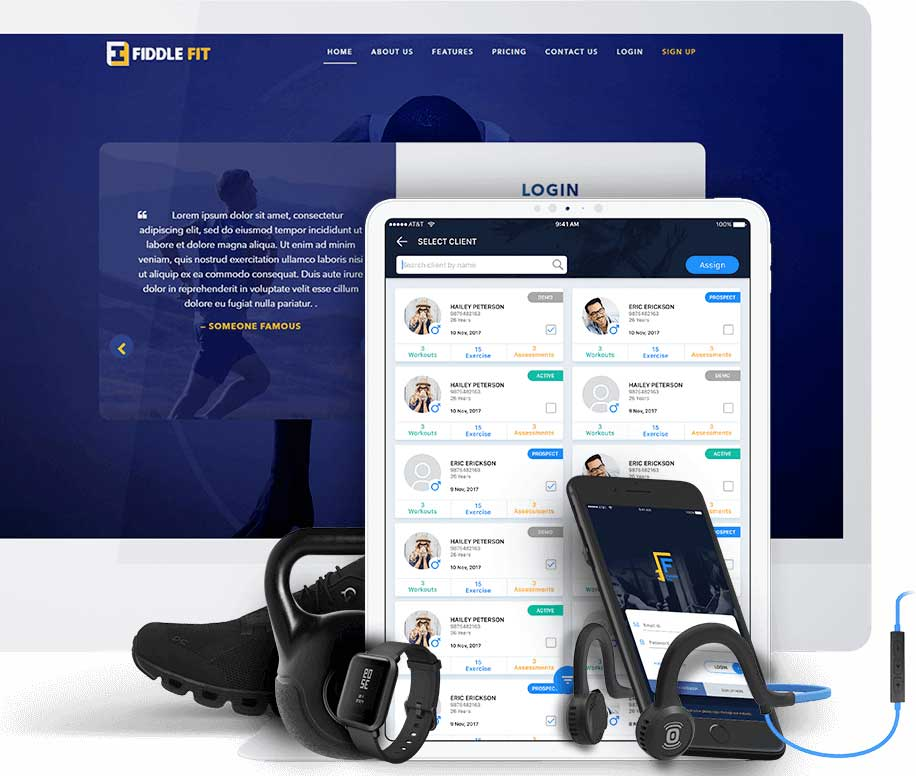 Fiddlefit is another successful project accomplished by ChromeInfotech through exceptional mobile app development services