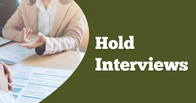 Hold-Interviews