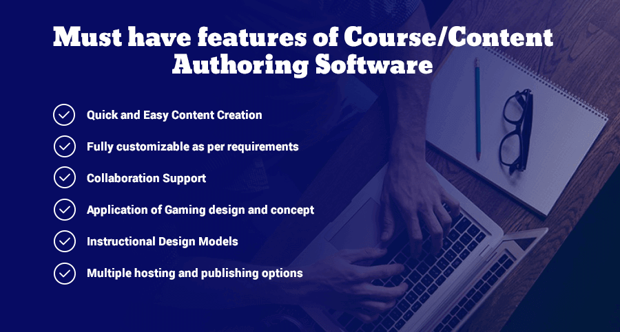 Must have features of course Authoring software