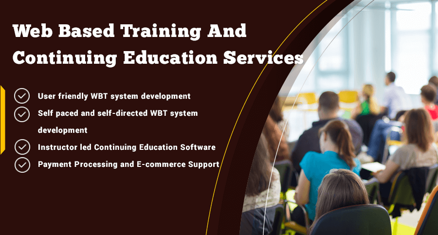 Web based training services in education software development